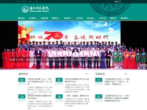 Tonghua Normal University's Website Screenshot