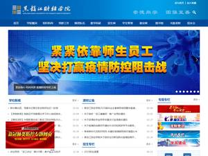 Heilongjiang University of Finance and Economics's Website Screenshot