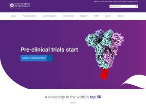 The University of Queensland's Website Screenshot