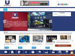 Universidad Salvadoreña Alberto Masferrer's Website Screenshot