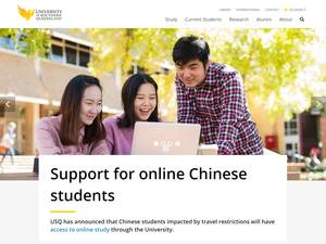 University of Southern Queensland's Website Screenshot