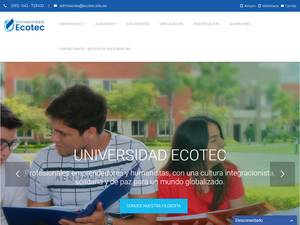 Universidad Ecotec's Website Screenshot