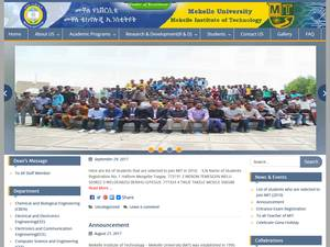 Mekelle Institute of Technology's Website Screenshot
