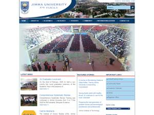 Jimma University's Website Screenshot