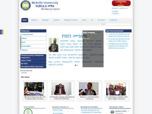 Mekelle University's Website Screenshot