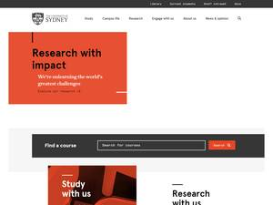 The University of Sydney Screenshot