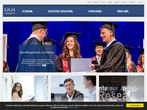 German Graduate School of Management and Law's Website Screenshot
