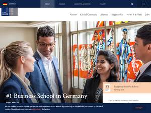 European School of Management and Technology's Website Screenshot