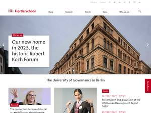 Hertie School of Governance Screenshot