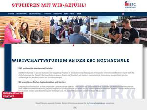EBC Hochschule Hamburg's Website Screenshot
