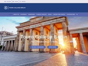 Touro College Berlin's Website Screenshot
