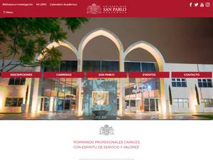 Universidad San Pablo de Guatemala Screenshot