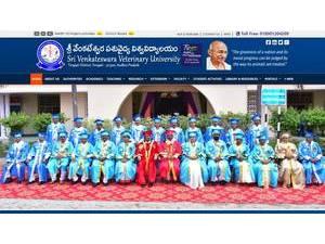 Sri Venkateswara Veterinary University's Website Screenshot
