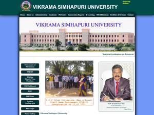 Vikrama Simhapuri University's Website Screenshot