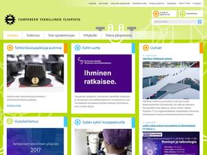 Tampereen teknillinen yliopisto's Website Screenshot