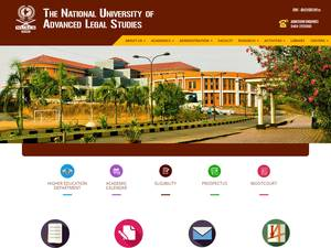 The National University of Advanced Legal Studies's Website Screenshot