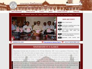 Ravenshaw University's Website Screenshot