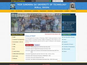 Veer Surendra Sai University of Technology's Website Screenshot