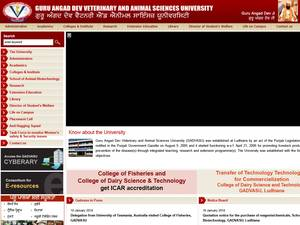 Guru Angad Dev Veterinary and Animal Sciences University Screenshot
