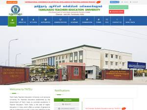 Tamil Nadu Teacher Education University's Website Screenshot