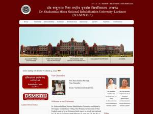 Dr. Shakuntala Misra Rehabilitation University's Website Screenshot