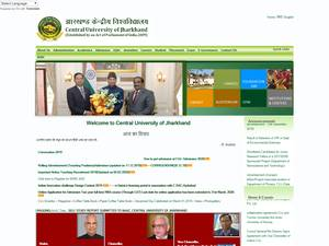 Central University of Jharkhand's Website Screenshot