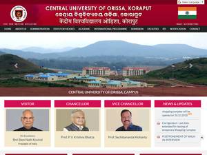 Central University of Orissa's Website Screenshot