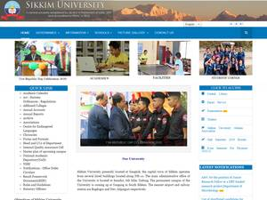 Sikkim University's Website Screenshot