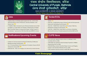 Central University of Punjab's Website Screenshot