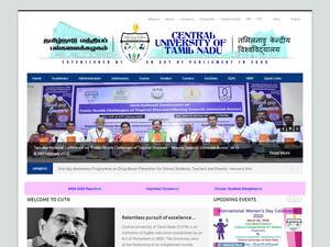 Central University of Tamil Nadu Screenshot