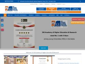 JSS Academy of Higher Education and Research Screenshot
