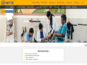 NITTE University's Website Screenshot