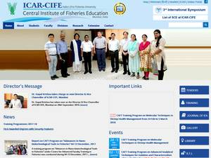 Central Institute of Fisheries Education's Website Screenshot