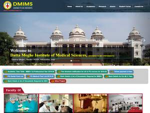 Datta Meghe Institute of Medical Sciences's Website Screenshot