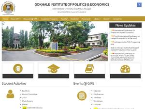 Gokhale Institute of Politics and Economics Screenshot
