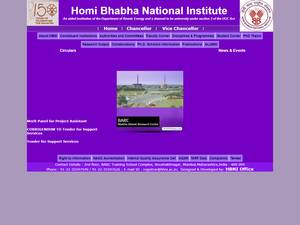 Homi Bhabha National Institute's Website Screenshot