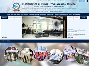 Institute of Chemical Technology's Website Screenshot
