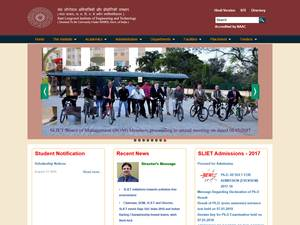 Sant Longowal Institute of Engineering and Technology's Website Screenshot