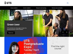 University of Technology Sydney's Website Screenshot