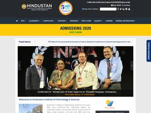 Hindustan Institute of Technology and Science's Website Screenshot