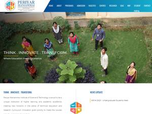 Periyar Maniammai Institute of Science and Technology's Website Screenshot