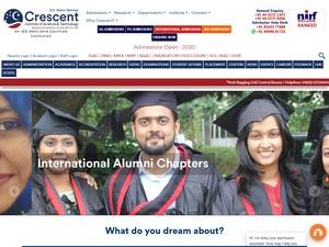 B.S. Abdur Rahman Crescent Institute of Science and Technology Screenshot