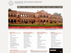 Dayalbagh Educational Institute's Website Screenshot