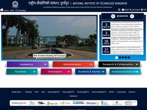 National Institute of Technology, Durgapur's Website Screenshot