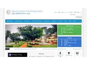 National Institute of Technology, Raipur's Website Screenshot