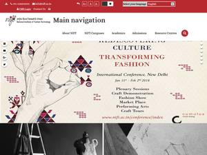 National Institute of Fashion Technology's Website Screenshot