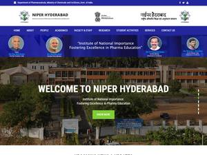National Institute of Pharmaceutical Education and Research, Hyderabad's Website Screenshot