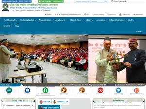 Indira Gandhi National Tribal University's Website Screenshot