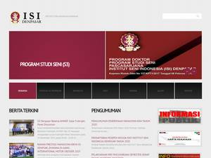 Institut Seni Indonesia Denpasar's Website Screenshot