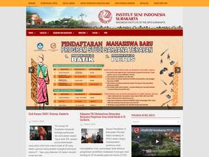 Institut Seni Indonesia Surakarta's Website Screenshot